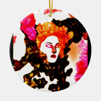 Medusa Double-Sided Ceramic Round Christmas Ornament