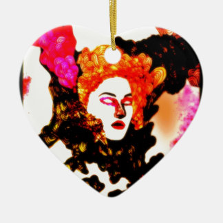 Medusa Double-Sided Heart Ceramic Christmas Ornament