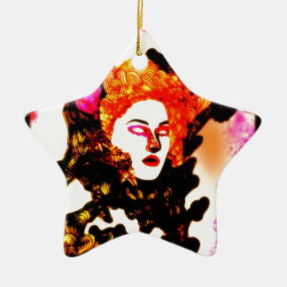 Medusa Double-Sided Star Ceramic Christmas Ornament