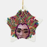 Medusa Double-Sided Star Ceramic Christmas Ornament