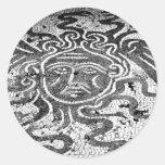 Medusa el Gorgon Etiquetas Redondas