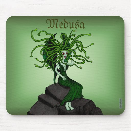 Medusa en las rocas tapete de raton