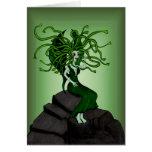 Medusa en las rocas tarjeta
