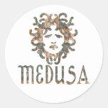 Medusa Etiquetas Redondas
