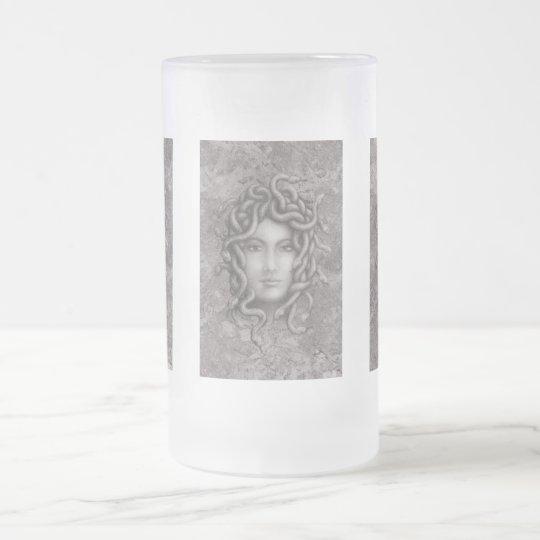 Medusa Frosted Glass Beer Mug