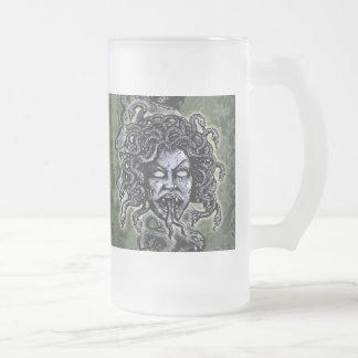 Medusa Gorgon Jarra De Cerveza Esmerilada