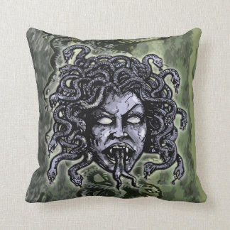 Medusa Gorgon Throw Pillow