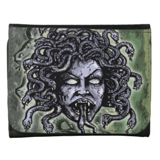 Medusa Gorgon Leather Wallet