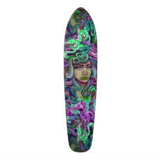 Medusa green and purple girly skate board deck