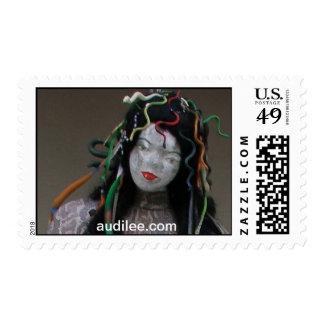Medusa Handcrafted Lifesize Snake Doll audilee.com Postage Stamp