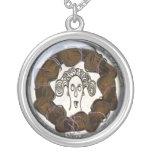 medusa head mourning brooch pendants