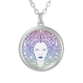 Medusa Head Round Pendant Necklace