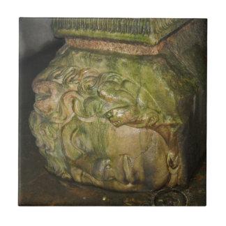 Medusa Head Sculptures Basilica Cistern Istanbul Ceramic Tile