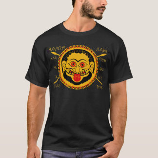 "Medusa head with ""come and get them"" text T-Shirt"