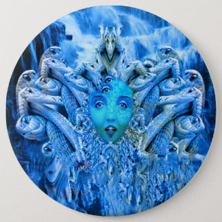 Medusa Metamorphosis Pinback Button
