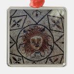 Medusa, mosaico romano de la casa de Orfeo Adorno Navideño Cuadrado De Metal