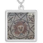 Medusa, mosaico romano de la casa de Orfeo Colgante Cuadrado