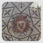 Medusa, mosaico romano de la casa de Orfeo Pegatina Cuadradas Personalizada