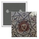 Medusa, mosaico romano de la casa de Orfeo Pin Cuadrada 5 Cm