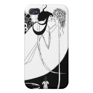 Medusa por el negro/el blanco de Beardsley iPhone 4 Carcasas