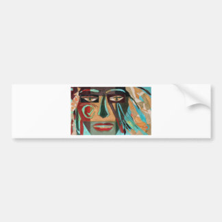 Medusa. portrait of a shaman bumper sticker