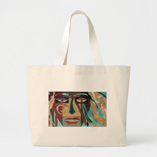 Medusa. portrait of a shaman large tote bag