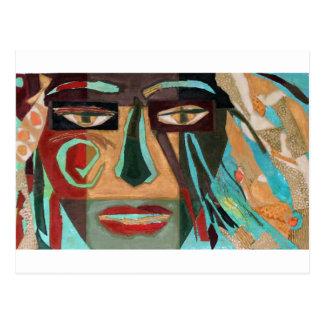 Medusa. portrait of a shaman postcard
