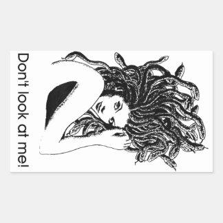 Medusa protected rectangular sticker