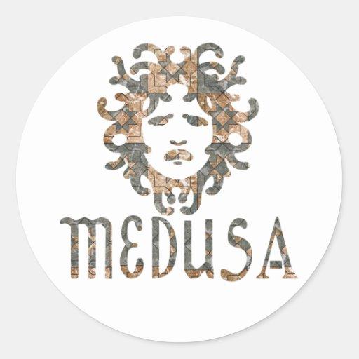 Medusa Round Stickers