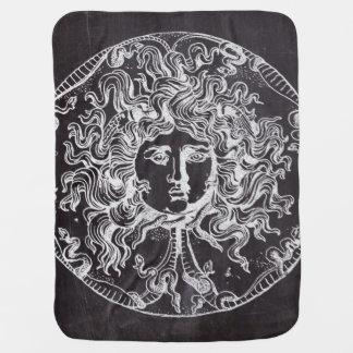 medusa rústica del vintage del arte de la pizarra mantitas para bebé
