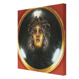 Medusa shield canvas print