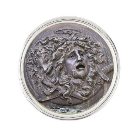 Medusa Shield of Athena Pin