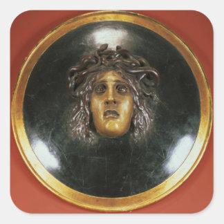 Medusa shield square sticker