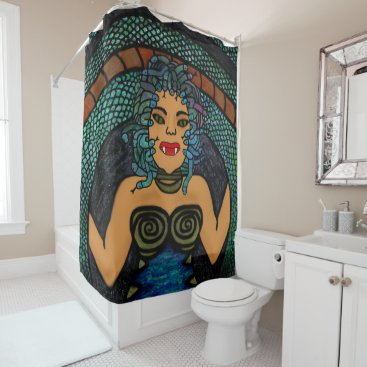 Halloween Themed Medusa Shower Curtain