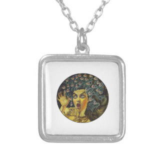 MEDUSA SHOWS LOVE SILVER PLATED NECKLACE