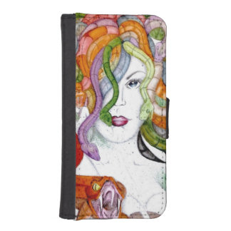 Medusa snake hair woman witch watercolour phone wallets