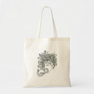 medusa snake lady vector illustration bags