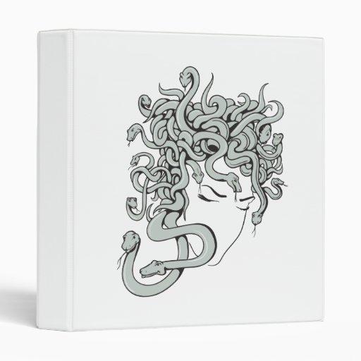 medusa snake lady vector illustration vinyl binders