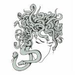 medusa snake lady vector illustration cut out