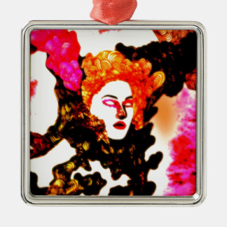 Medusa Square Metal Christmas Ornament
