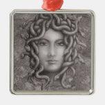 Medusa Square Metal Christmas Ornament
