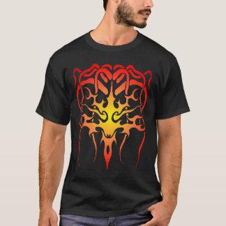 Medusa Tribal Tattoo - flame on black T-Shirt