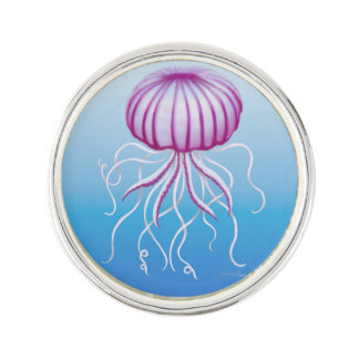 Medusa Type Jellyfish Lapel Pin