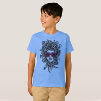 Medusa With Glasses And Snakes In Hair T-Shirt
