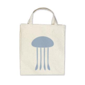 Medusas azules bolsa de mano