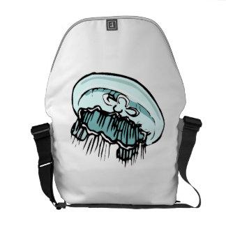 Medusas azules bolsa de mensajería
