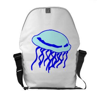 Medusas azules bolsa de mensajeria