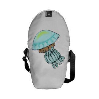 Medusas azules bolsa messenger