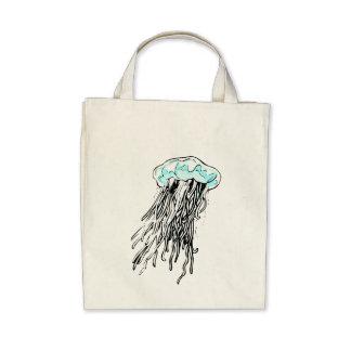 Medusas azules bolsas