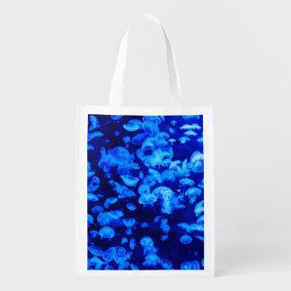 Medusas azules bolsas de la compra